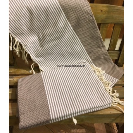 Fouta 100 x 200 cm - gris from La Boutique in Paris @ Soap and the City, soaps, candles, incens, perfumes and teddies