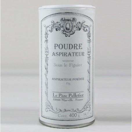 Poudre aspirateur Sous le Figuier Le Père Pelletier à Paris chez Soap and the City, savons, bougies, parfums, encens et peluches