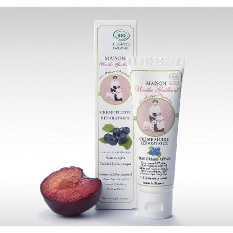 Crème BIO réparatrice visage au lait de chèvre, 50ml Berthe Guilhem à Paris chez Soap and the City, savons, bougies, parfums,...