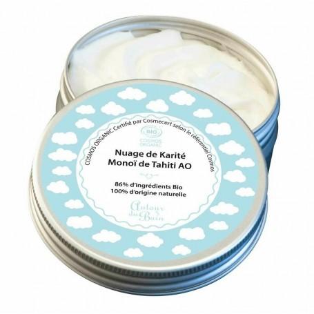 Nuage de karité à l'huile de Monoï BIO, 100ml Autour du Bain à Paris chez Soap and the City, savons, bougies, parfums, encens...