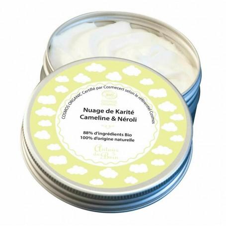 Nuage de karité Néroli Cameline BIO, 100ml Autour du Bain à Paris chez Soap and the City, savons, bougies, parfums, encens et...