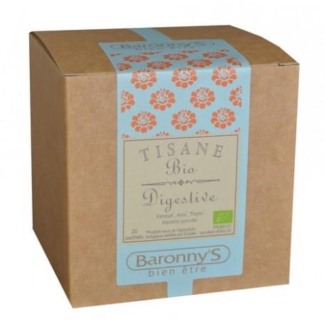 Tisane Digestive, 20 sachets BIO Barrony's à Paris chez Soap and the City, savons, bougies, parfums, encens et peluches