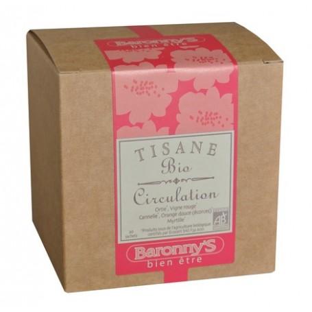 Tisane Circulation, 20 sachets BIO Barrony's à Paris chez Soap and the City, savons, bougies, parfums, encens et peluches