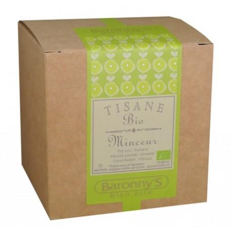 Tisane Minceur, 20 sachets BIO Barrony's à Paris chez Soap and the City, savons, bougies, parfums, encens et peluches