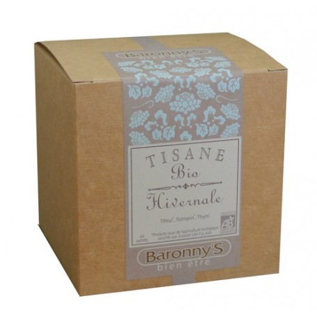 Tisane Hivernale, 20 sachets BIO Barrony's à Paris chez Soap and the City, savons, bougies, parfums, encens et peluches
