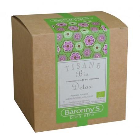 Tisane Détox, 20 sachets BIO Barrony's à Paris chez Soap and the City, savons, bougies, parfums, encens et peluches