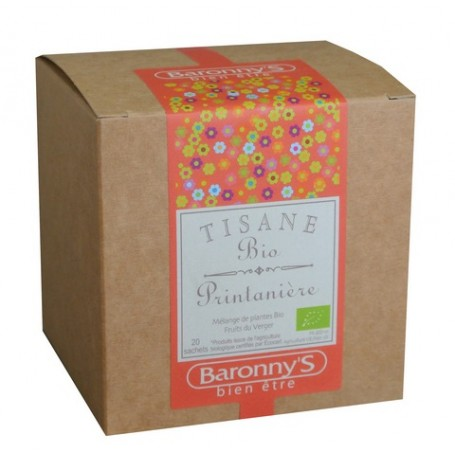 Tisane Printanière, 20 sachets BIO Barrony's à Paris chez Soap and the City, savons, bougies, parfums, encens et peluches