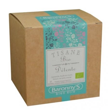 Tisane Détente, 20 sachets BIO Barrony's à Paris chez Soap and the City, savons, bougies, parfums, encens et peluches