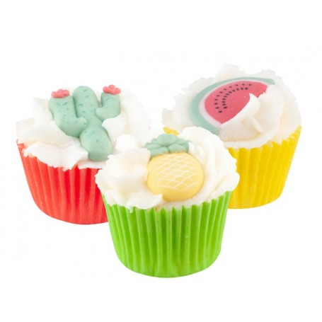 Mini cupcake, Tropical Summer Autour du Bain à Paris chez Soap and the City, savons, bougies, parfums, encens et peluches