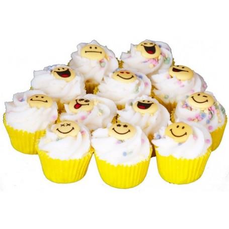 Mini cupcake, Smiley