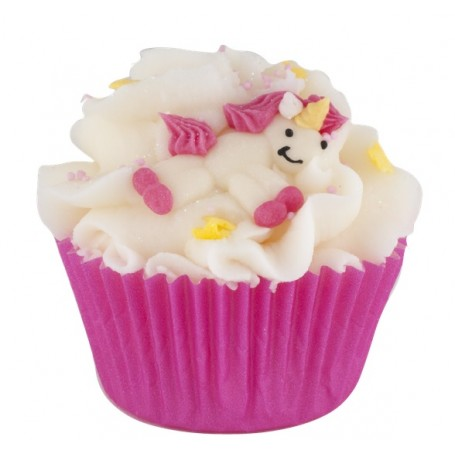 Triple cupcake bain Licorne Autour du Bain à Paris chez Soap and the City, savons, bougies, parfums, encens et peluches