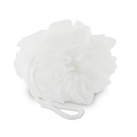 Eponge fleur de douche, blanche