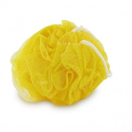 Eponge fleur de douche, jaune