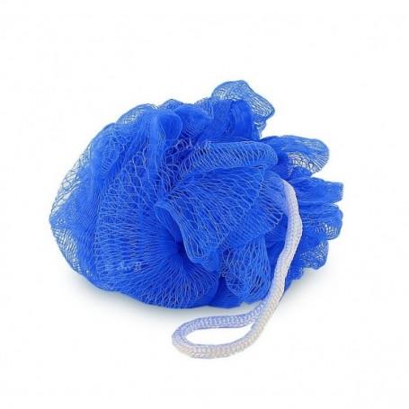 Eponge fleur de douche, bleue