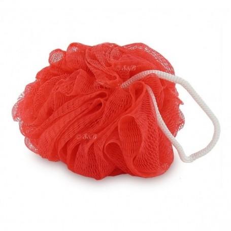 Eponge fleur de douche, rouge