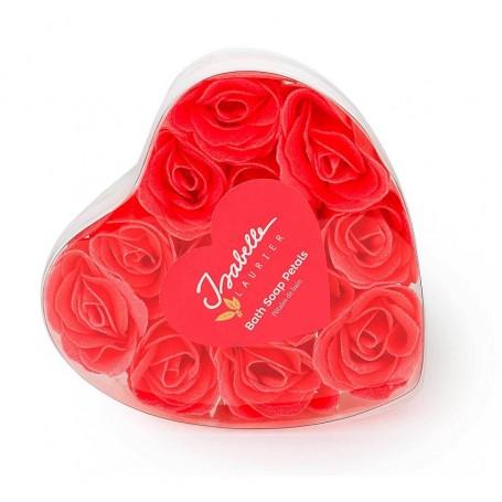 Roses en savon x 12, boîte coeur