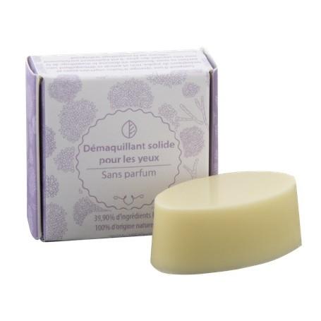 Démaquillant solide pour les yeux, BIO Autour du Bain à Paris chez Soap and the City, savons, bougies, parfums, encens et pel...