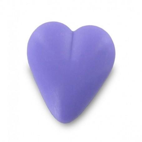 Savon coeur violet