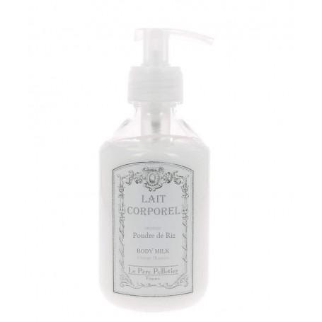 Lait corporel pompe, Poudre de Riz Le Père Pelletier à Paris chez Soap and the City, savons, bougies, parfums, encens et pelu...