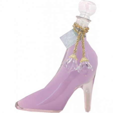 Bain moussant en chaussure, Lavande Tentation à Paris chez Soap and the City, savons, bougies, parfums, encens et peluches