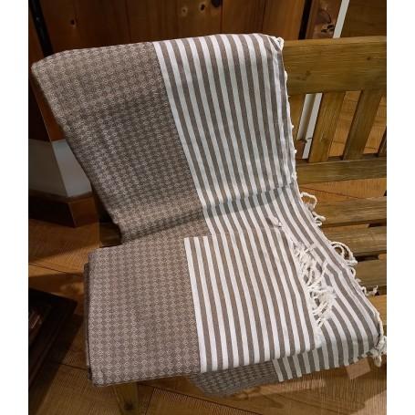 Fouta losanges 100 x 200 cm - gris