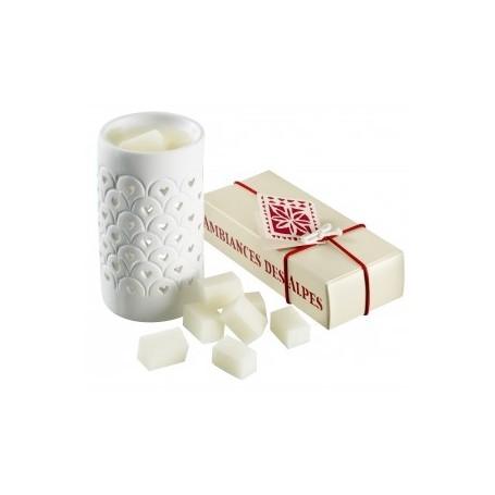 Bougies parfumées Dés parfumées Edelweiss de Ambiance des Alpes