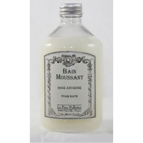 Bain moussant, Rose ancienne Le Père Pelletier à Paris chez Soap and the City, savons, bougies, parfums, encens et peluches