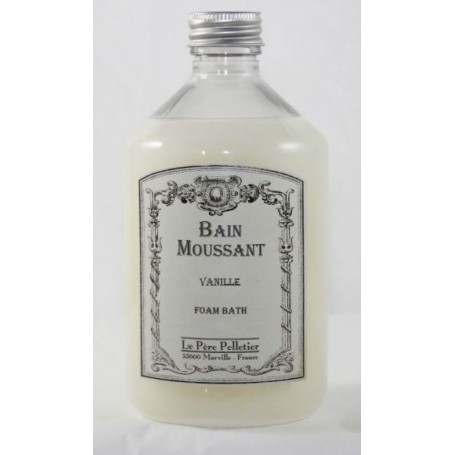 Bain moussant, Vanille Le Père Pelletier à Paris chez Soap and the City, savons, bougies, parfums, encens et peluches