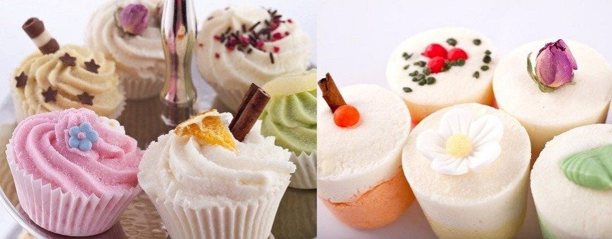 Bath cupcakes and bath fizzers